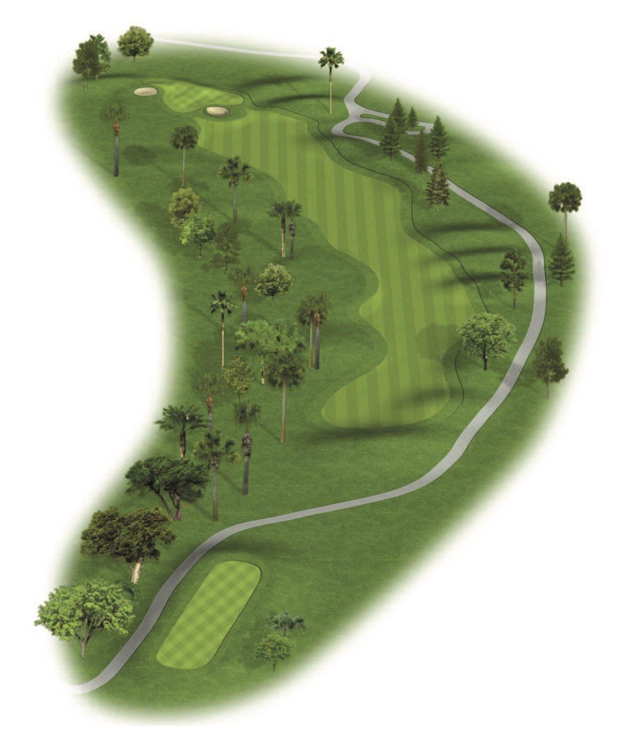 Hole 6 on the Patriot Course at The Wigwam Golf Resort near Phoenix, AZ